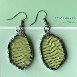 SEDGE GREEN EARRINGS