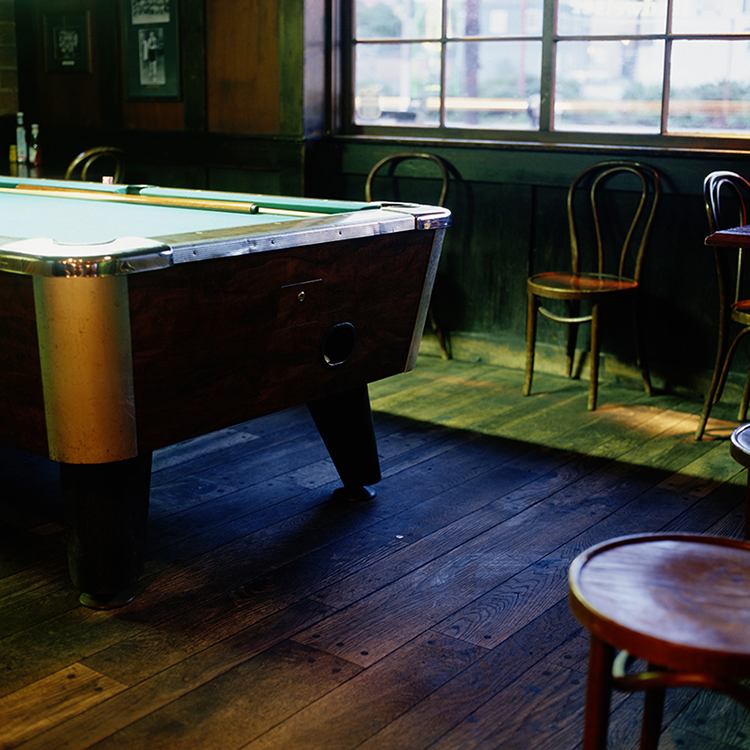 Pool Table in Bar