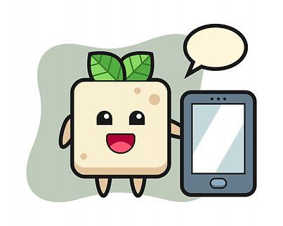 tofu-illustration-cartoon-holding-smartp