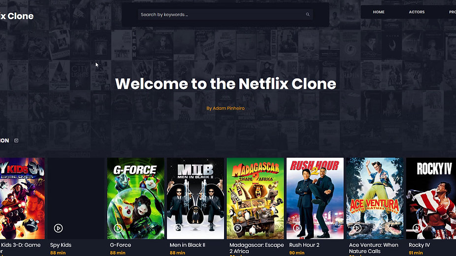 Netflix clone, include login, profil page and movie renting.