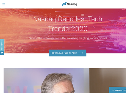 Nasdaq Tech Trends 2020