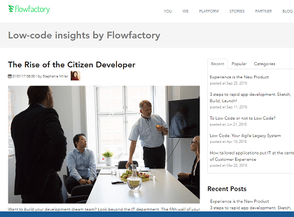 The Rise of the Citizen Developer