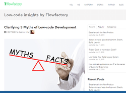 Clarifying 3 Myths of Low-code