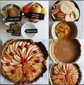 Tarte aux pommes façon parisienne
