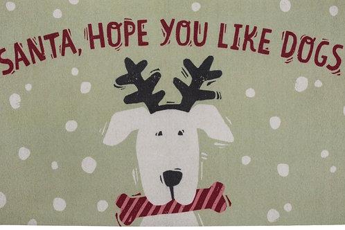 Rug - Santa Hope You Like Dogs