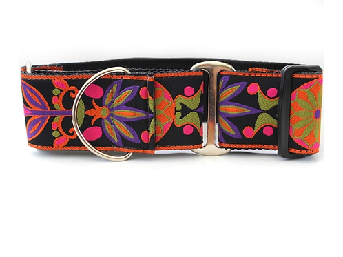 Diva Dog Martingale Wide Collars Florals