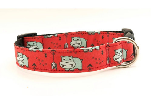 3Pooches Hippos collar  (multiple sizes)