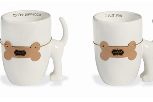 Mud Pie Dog Tail Coffee Mug