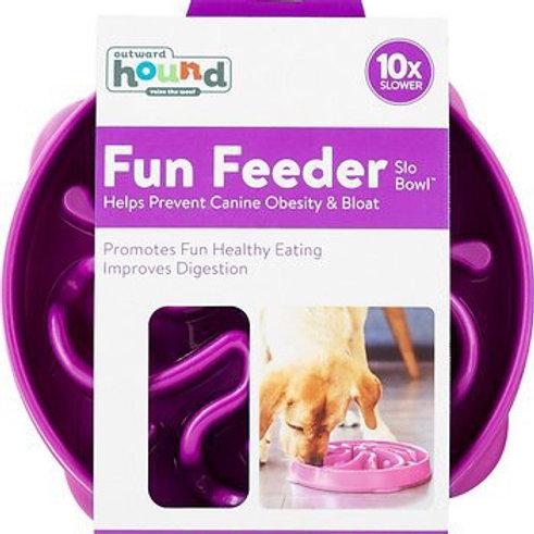 Outward Hound Fun Feeder Interactive /Slow Feeder Dog Bowl (Lg 4 C.)