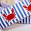 Thumbnail: Green Bean Hemp Dog Collar Dancing Crabs (1 inch width)