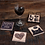 """Thumbnail: Coaster Set """"All you need is love and a cat"""""""