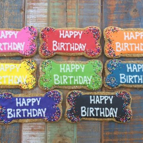 Happy Birthday Dog Cookies