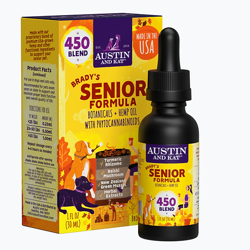 Austin & Kat CBD Functional Oil - Senior Blend 450 mg