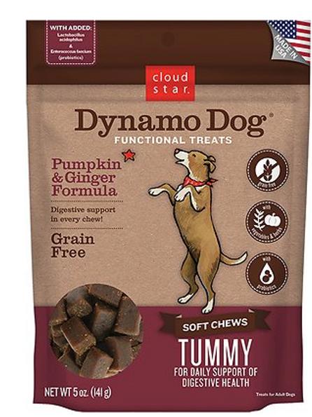 Cloud Star Dynamo Dog Tummy Soft Chews Pumpkin & Ginger