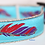 Thumbnail: Green Bean Hemp Dog Collar Feathers (1 inch width)