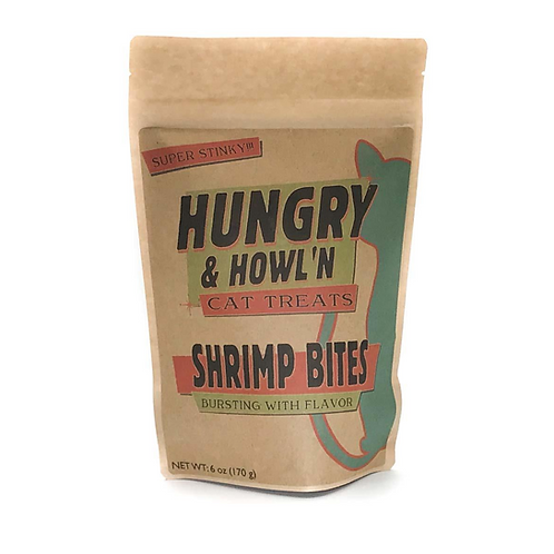 Hungry & Howl'n Shrimp Bites Cat Treats