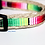 Thumbnail: Green Bean Hemp Dog Collar Tiny Ocean (5/8 inch wide)