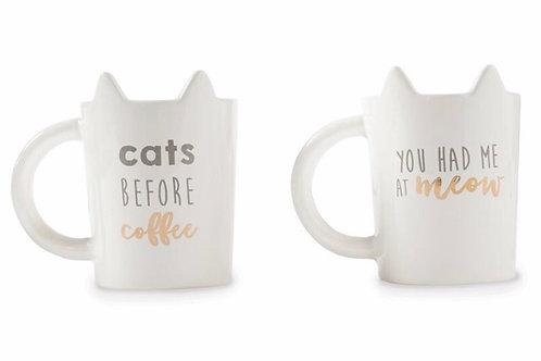 Cat Ear Sentiment Coffee mugs