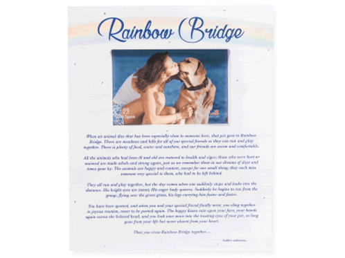Dog Speak Pallet Wood Frame Rainbow Bridge