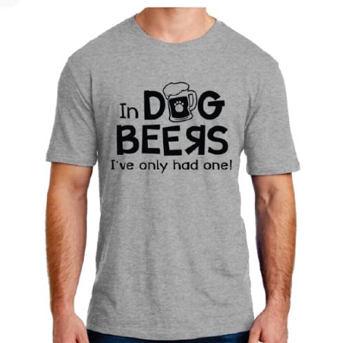 Dog Beers Unisex Tee Shirt (Grey)