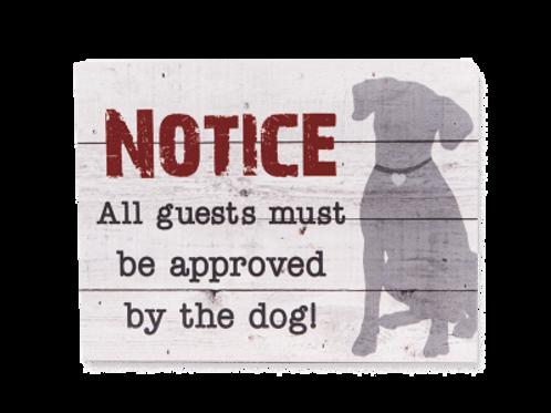 Dog Speak Pallet Sign