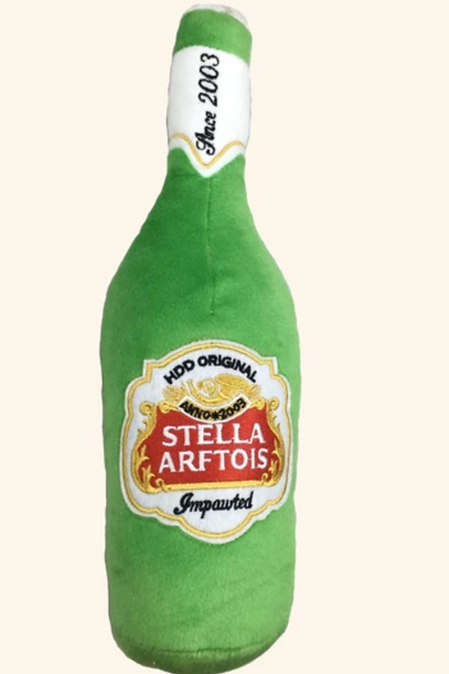 Haute Diggity Stella Arftois Beer Bottle Toy