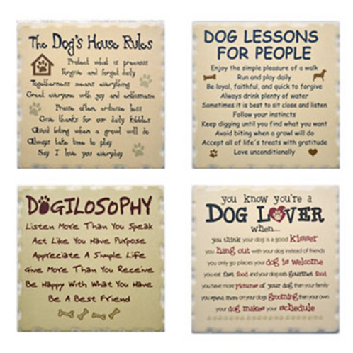 Dog Speak Coaster Set