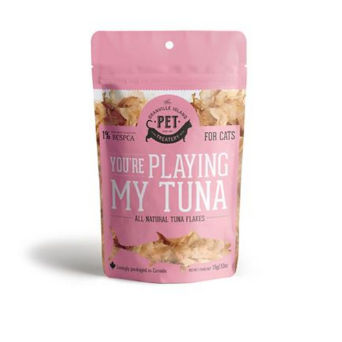 """You're playing my tuna"" - Tuna Flake Treats"