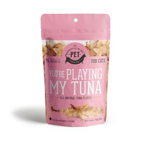 """You're playing my tuna"" - Tuna Flake Treats"