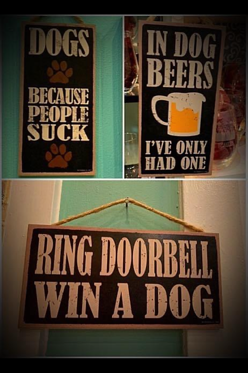Funny signs (10 designs)
