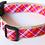 Thumbnail: Green Bean Hemp Dog Collar Plaid Patterns (1 inch width)
