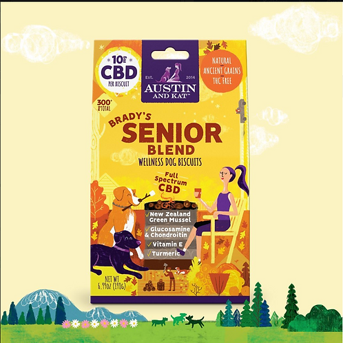 Functional CBD Biscuits - Brady's Senior Blend (10mg)
