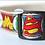 Thumbnail: Green Bean Hemp Dog Collar Superhero (1 inch width)