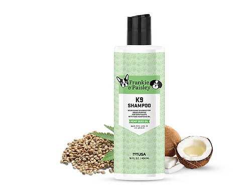 Frankie & Paisley K9 Shampoo with Hemp Seed Oil  (16 oz)