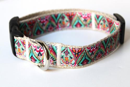 Green Bean Hemp Dog Collar patterns  (1 inch width)