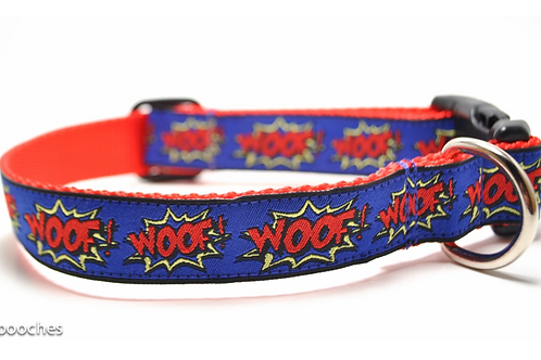 3Pooches Dog Collar WOOF!