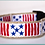 Thumbnail: Green Bean Hemp Dog Collar Patriot (1 inch width)