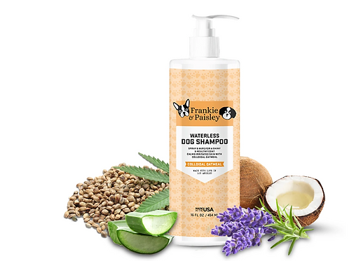 Frankie & Paisley Waterless Dog Shampoo - Colloidal Oatmeal  (16 oz)