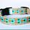 Thumbnail: Green Bean Hemp Dog Collar Pineapples  (5/8 inch wide)