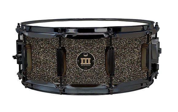"""WFL III Maple Snare - Ginger Glitter 5.5""""x14"""" Black Nickel Lugs, S1 Strainer"""