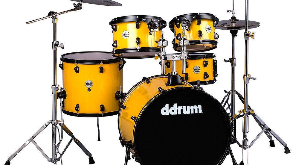 ddrum Journeyman - Flash Yellow w/Black Rims