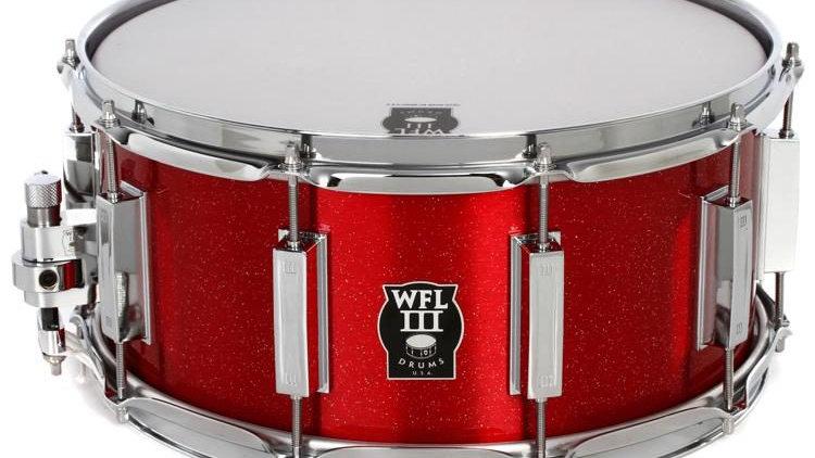 """WFLIII Aluminum Snare Drum - 6.5"""" x 14"""" Rockin' Red"""
