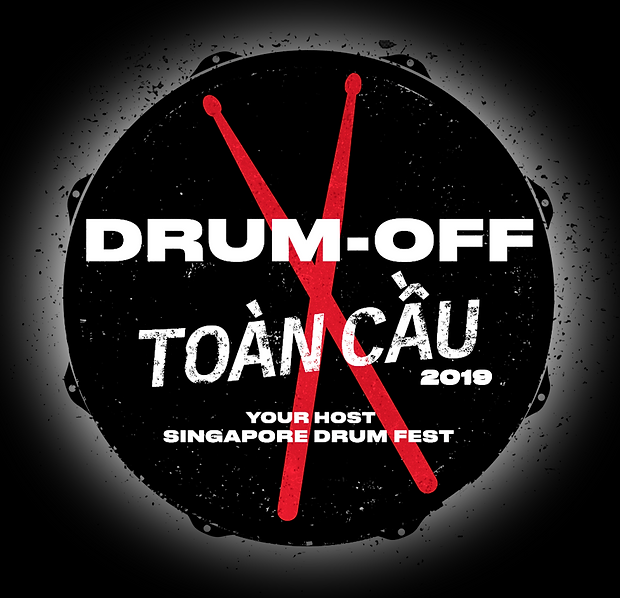 (Viet) Drum off 2019 logo (black bg and