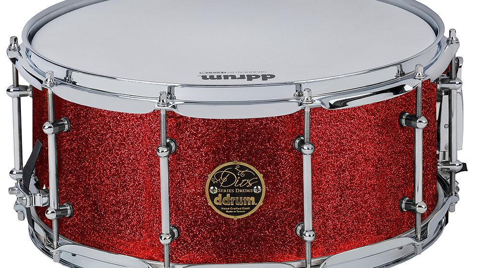 ddrum Dios 6.5X14 Red Cherry Sparkle Snare Drum