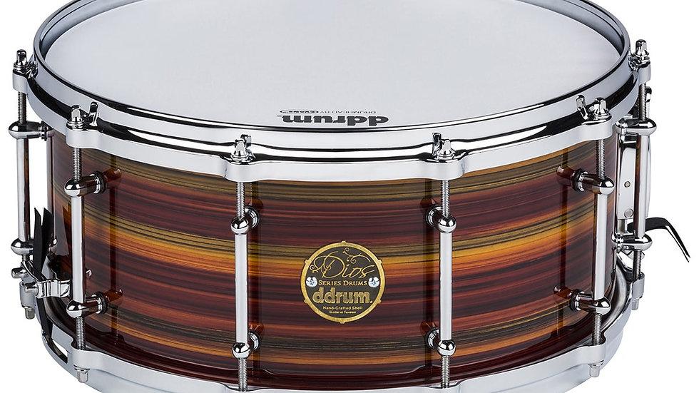 ddrum 6.5X14 Maple Zebra Lacquer Snare