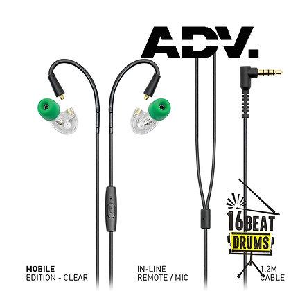 ADVANCED Model 3 MOBILE Earphones Clear