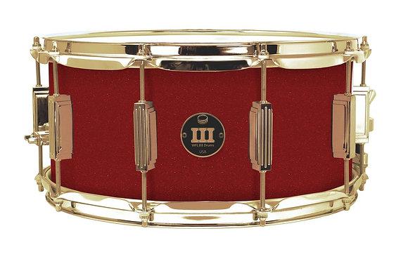 "WFL III Aluminium Snare - Rockin' Red 6.5""x14"" Gold Powder Lugs, Trick Strainer"