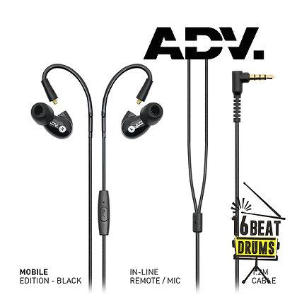 ADVANCED Model 3 MOBILE Earphones Black