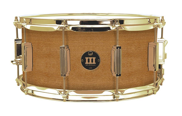 """WFL III Maple Snare - Natural Gloss 6.5""""x14"""" Brass Lugs, Trick Strainer"""