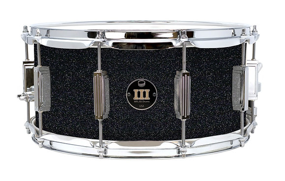 "WFL III Aluminum Snare - Black Sparkle 6.5""x14"" Chrome Lugs, Trick Strainer"